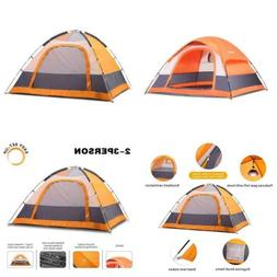 SEMOO Dome Tent Family Camping Water Resistant orange with g