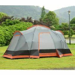 Durable 8 People Automatic Pop Up Hiking Tent with Bag - Out