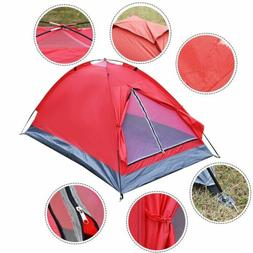 Durable Waterproof 2 People Camping Tent w/1 Door - Outdoor