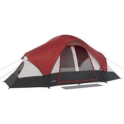 Family Camping Tent 8-Person 2 Rooms with Separate Doors. Wa
