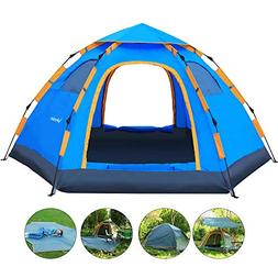 Wnnideo Family Camping Tent 4-5 Person Instant Pop Up Tents