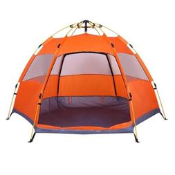 Lw Family Tent 3-4 Person Camping Tent, Dome Instant Automat