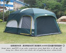 Family tent in frame cabin style with 3rooms for 6-8 persons