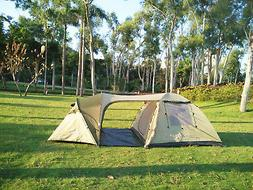 Family tent with 2 separated rooms for 4 persons & in betwee