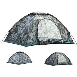 Folding 2-4 Person Camouflage Camping Tent Waterproof Hiking