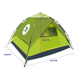 Green Double layer Waterproof Camping Hiking Instant Tent fo