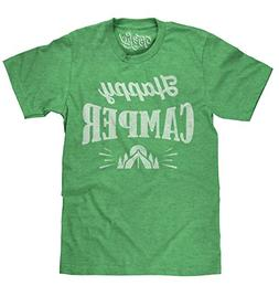 Tee Luv Happy Camper T-Shirt - Graphic Camping Shirt