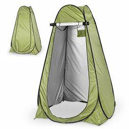 Instant Pop Up Green Privacy Tent with Carrying Bag & Built-