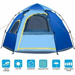 Portable Family Camping Tent 4 - 5 Person Waterproof Backpac