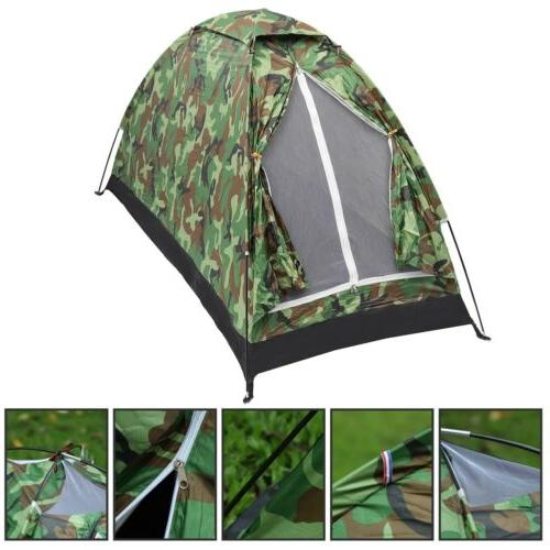 1 Person Waterproof Tent Camping Camouflage
