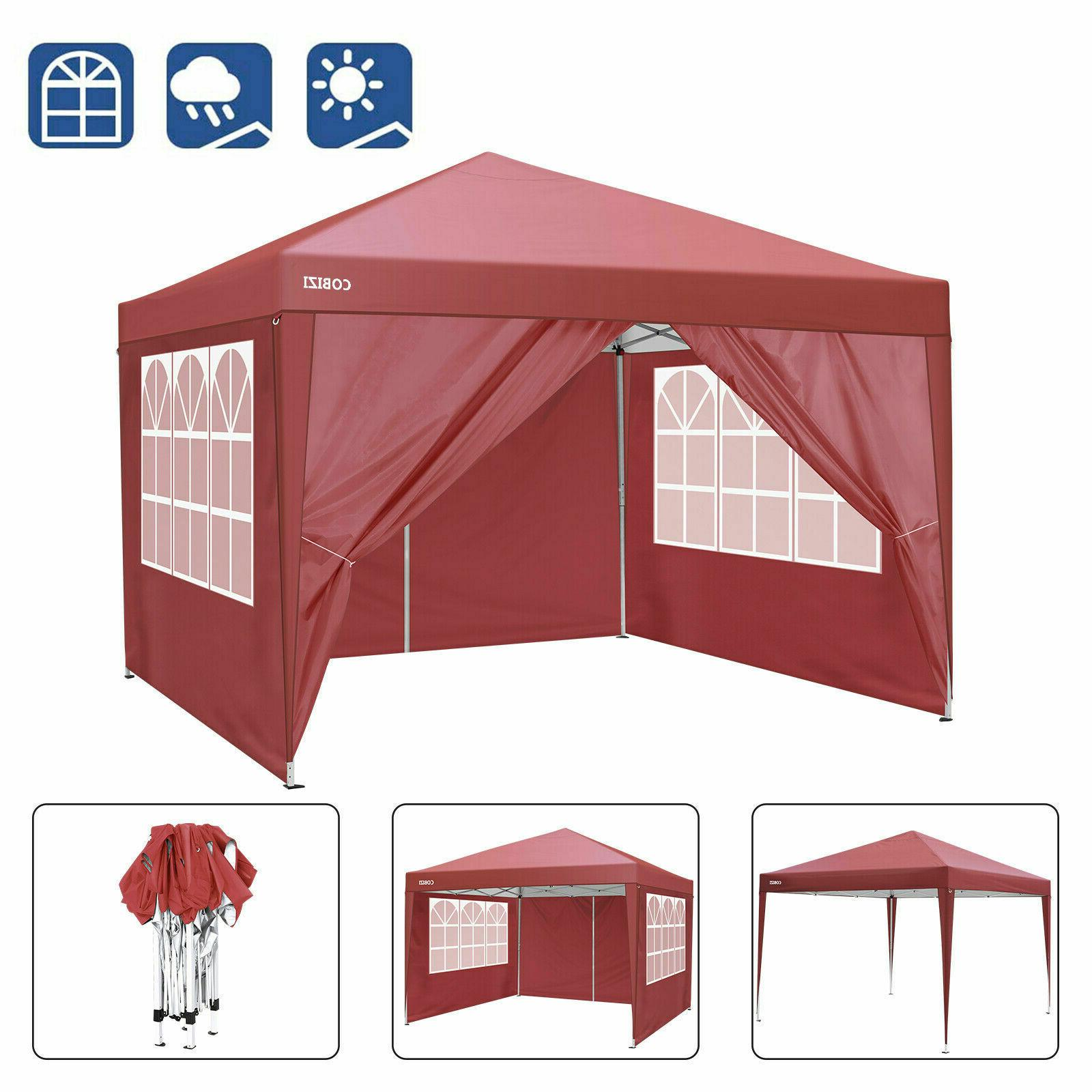 10x10ft waterproof canopy camping party tent instant