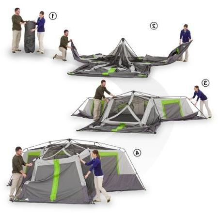 Ozark 12-Person 3 Room Cabin Tent with Room