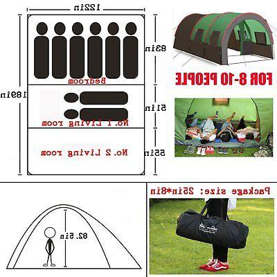 "189""x122"" Person Camping Tunnel"