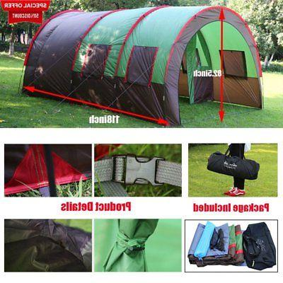 "189""x122"" 8-10 Person Camping Tunnel Waterproof Large"