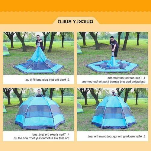 2-3 Camping Tent Automatic Tents Waterproof For