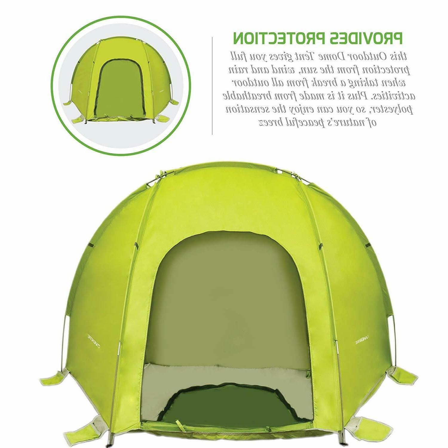 Ovente Two Person Camping Dome Windproof Outdoor Green TB0174G