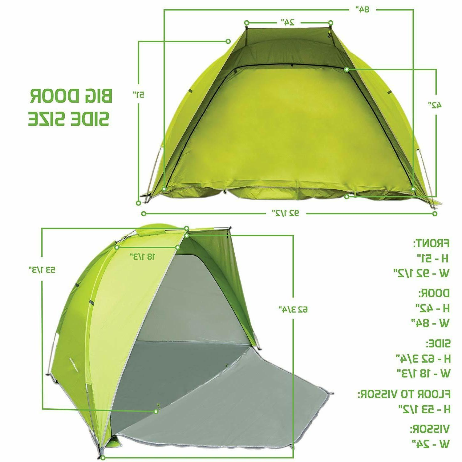 Ovente Two Person Dome Tent Waterproof Windproof Outdoor Green