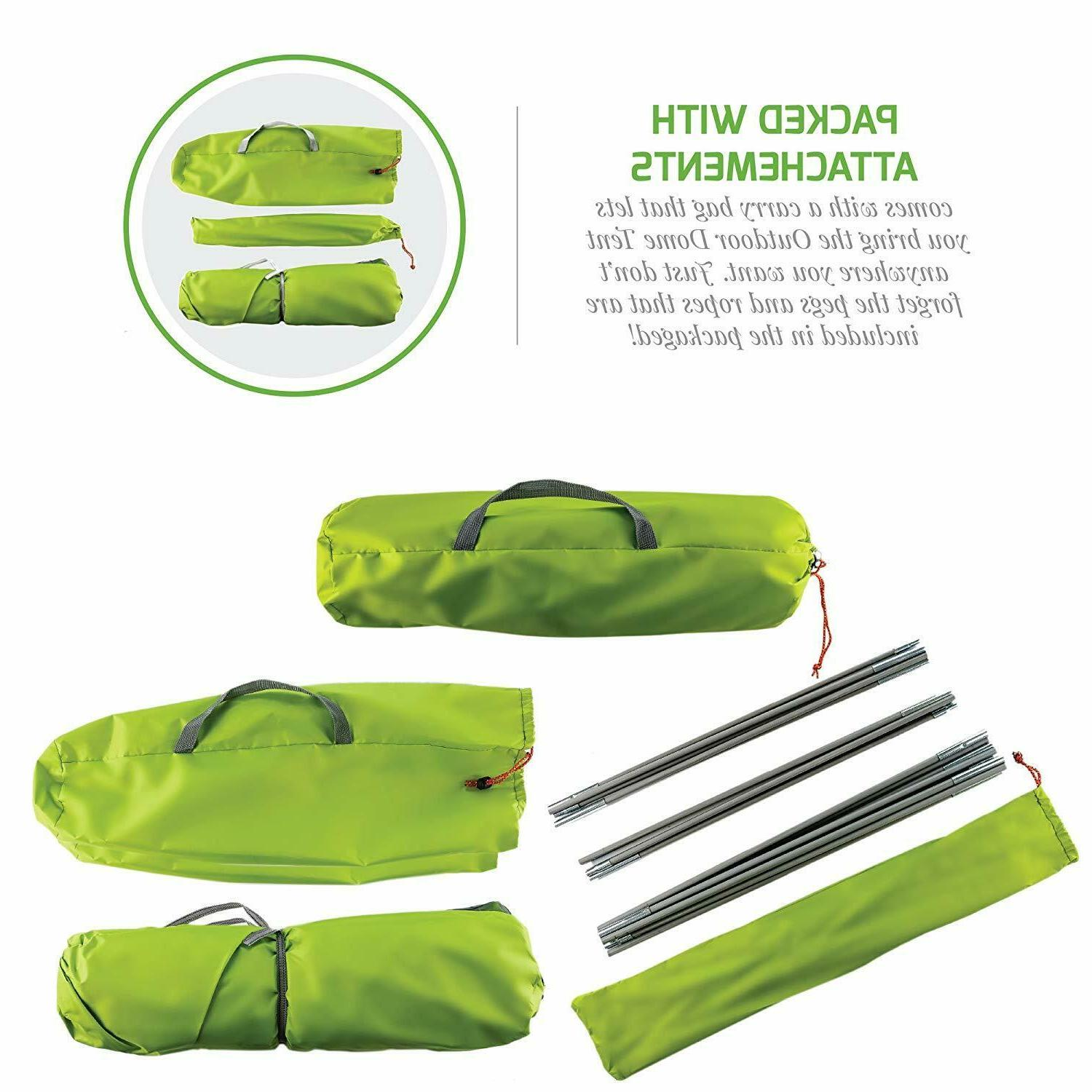 Ovente Person Camping Dome Windproof