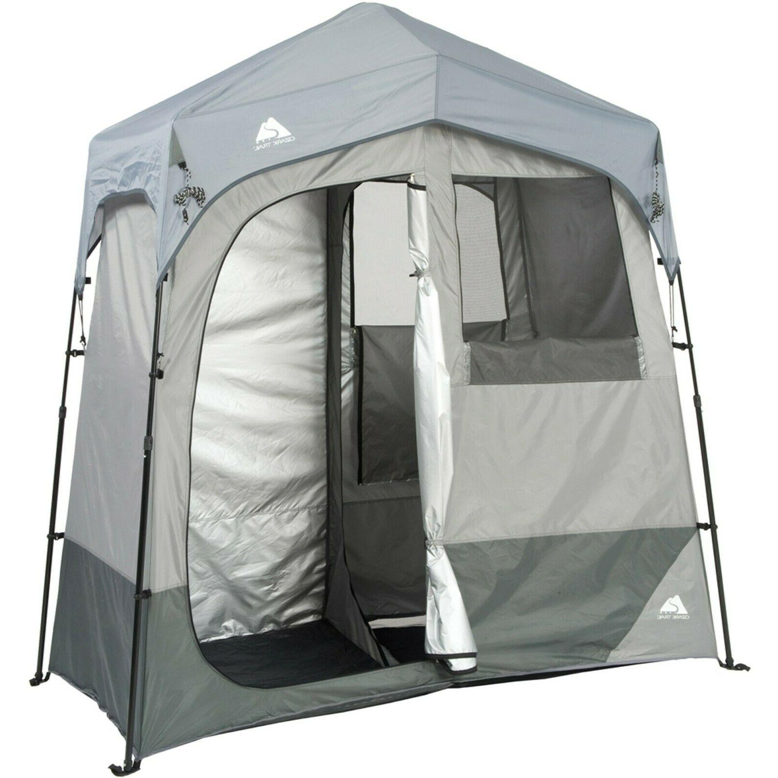 2 room camping instant shower utility shelter