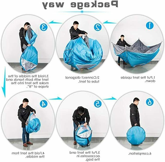 3-4 Up Family Portable Auto Instant Hiking Dome
