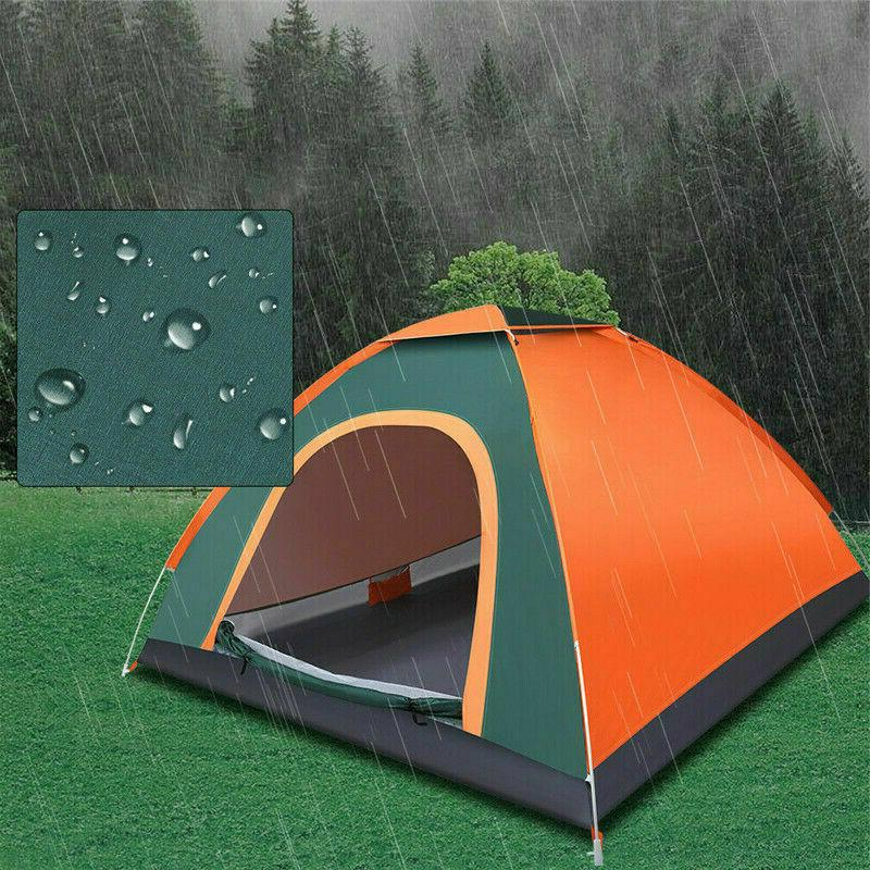 3-4 Man Camping Up Auto Hiking Beach Dome Tent