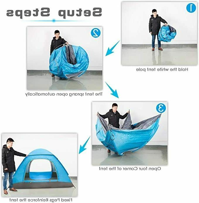 3-4 Man Up Auto Dome Tent