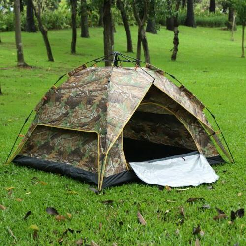 3-4 People up Camouflage Waterproof Family