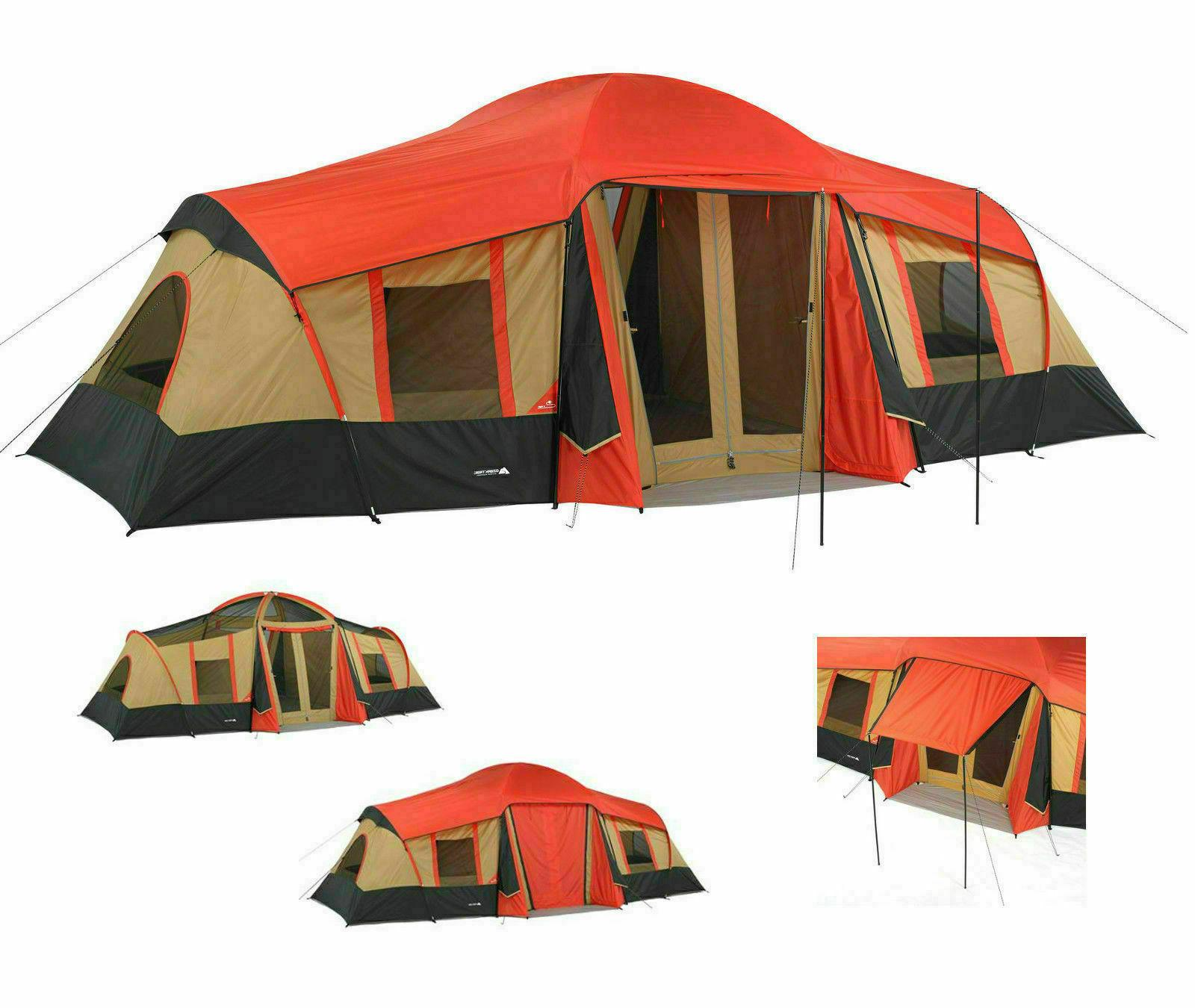 bc5d53772f Ozark Trail 3 Room Cabin Tent 10 Person 20'x11' Large Campin