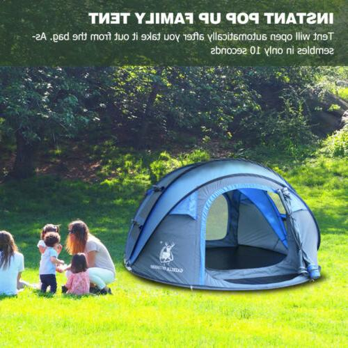 4-5 Person Pop Up Camping Tent Waterproof Family