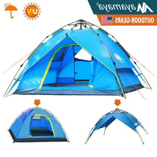 4 person camping dome tent instant pop