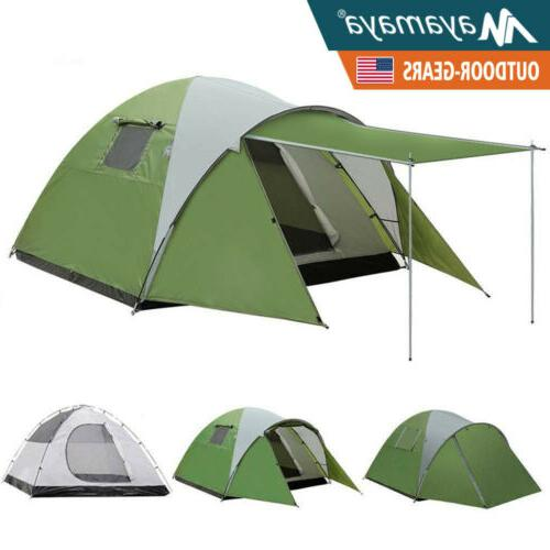 4 person camping dome tent waterproof double