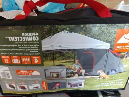 Ozark Trail 4 Connectent. Canopy Sold Separately. Free