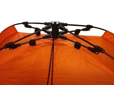 4 TENTS Automatic Pop Camping Hiking Orange