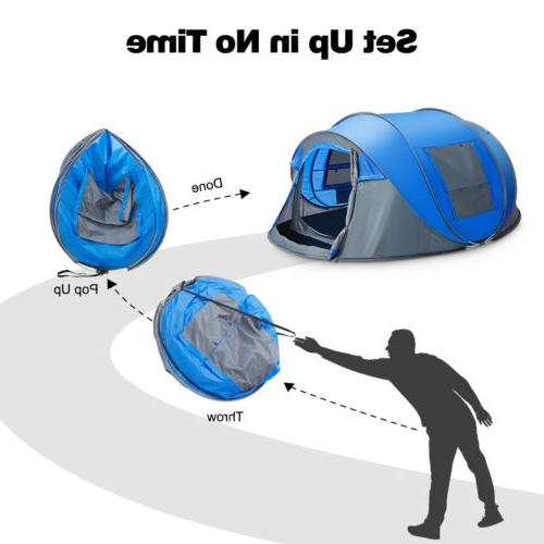 Waterproof People Instant Pop Family Camping Tent