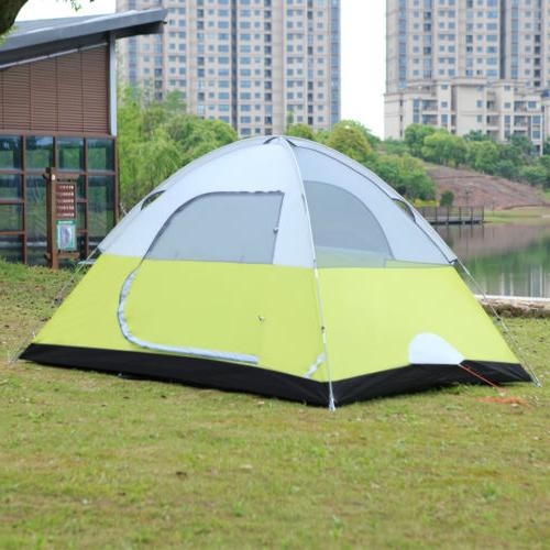 6-Person Camping Tent Man Family Tent Backpacking Hiking