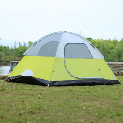 6 person dome camping tent man family