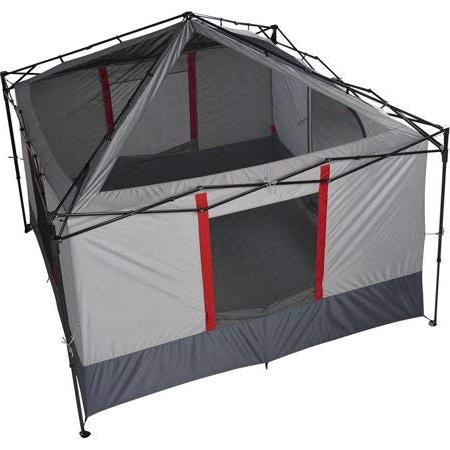 Ozark Tent Connectent Camping Cabin Gray, Outdoor easy to up