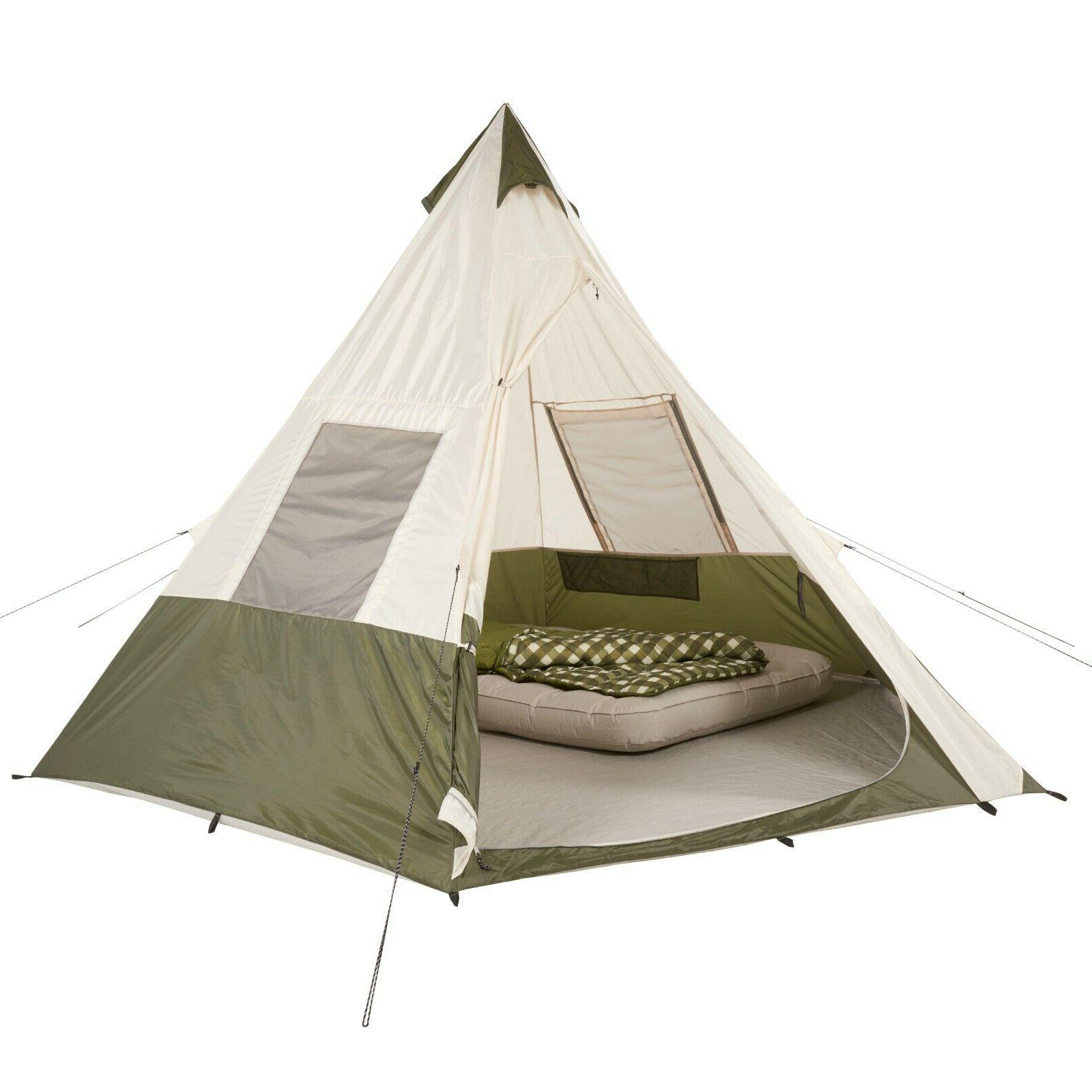 7 person teepee tent without center pole