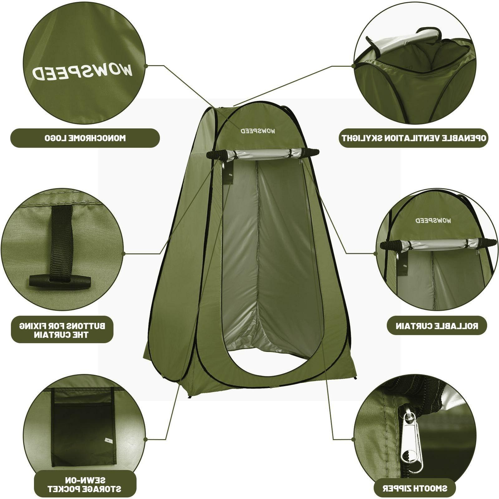 75 Inch Up Privacy Tent for Changing Bathroom Camping