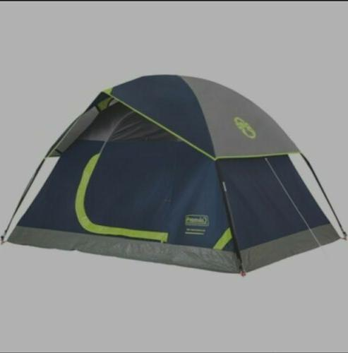 Coleman Camping Dome Tent - Green/Navy