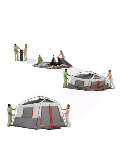 Ozark Trail 8-Person Hexagon Tent with LED Lights 15' 13' Camping