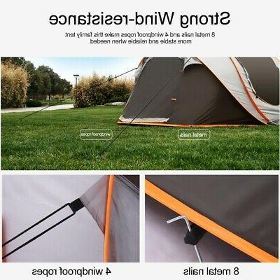 5-8 Tent Waterproof Auto Sun Shelters Outdoor Hiking