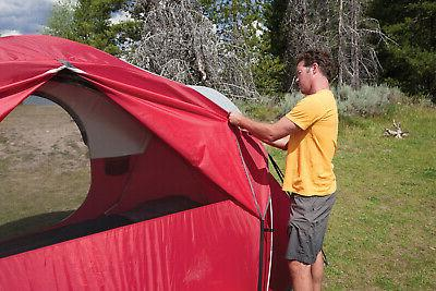 8 Person Waterproof Tent Camping Outdoor Hiking Red