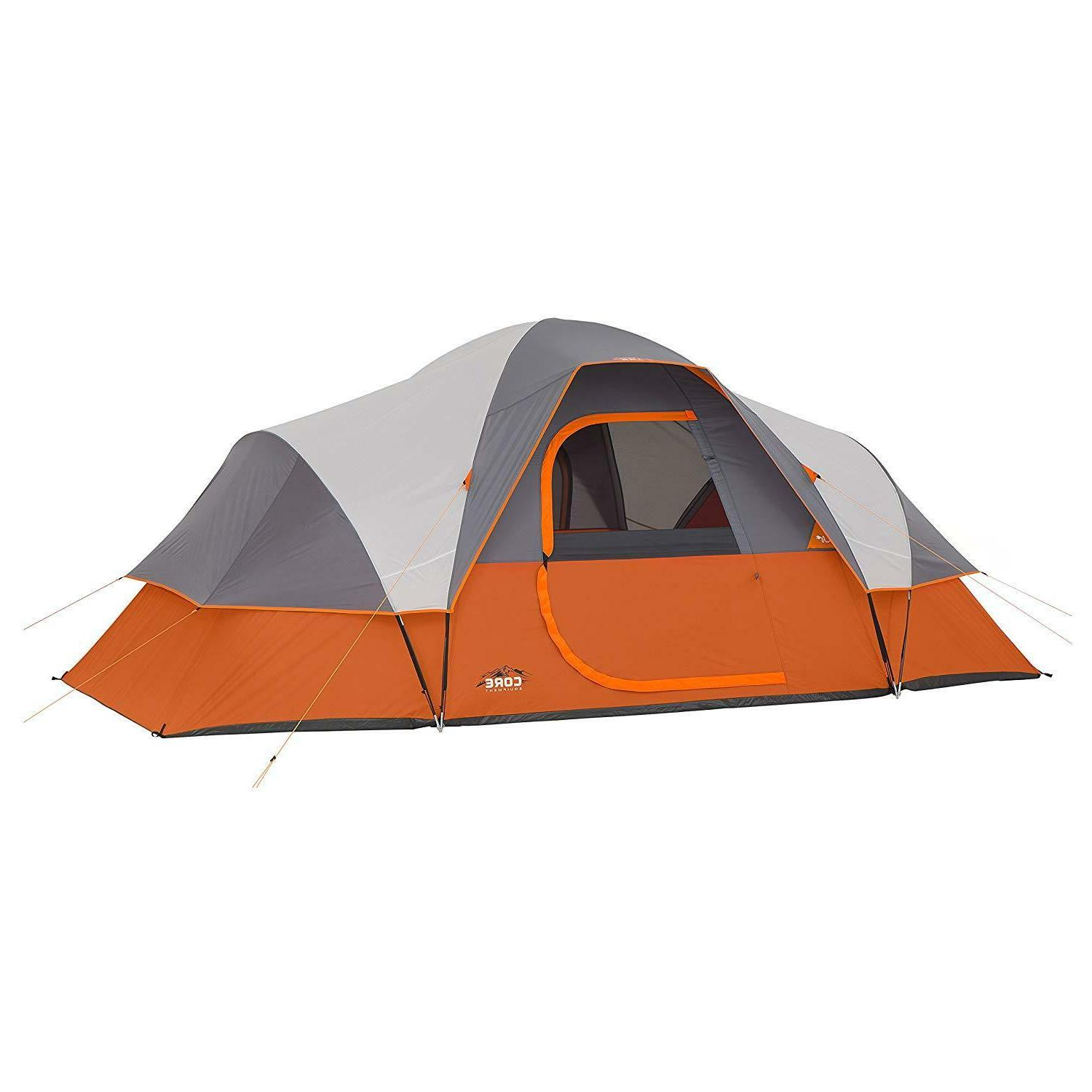 9 person extended dome tent camping trip
