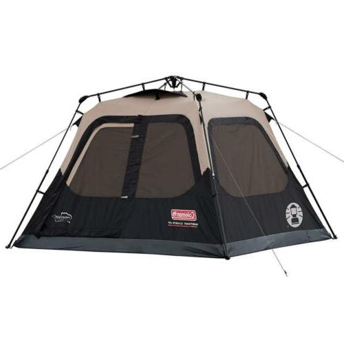 cabin tent with instant setup for camping