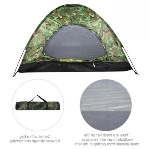 Camping Camouflage Person Waterproof Dome w/ Net