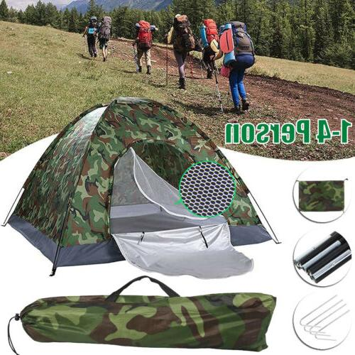 camping camouflage tents 1 4 person waterproof