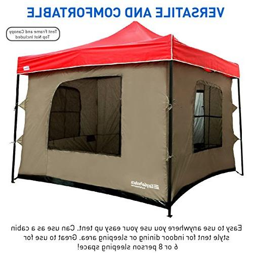 Camping any Pop Up Canopy Tent with 4 Floor, 2 4 Windows Roof Standing - - TENT FRAME CANOPY NOT INCLUDED