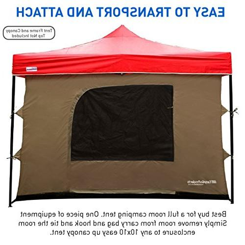 Camping Tent attaches any Easy Pop Up Tent with 4 Floor, 2 Doors 4 Windows solid Roof - - Room - TENT AND CANOPY