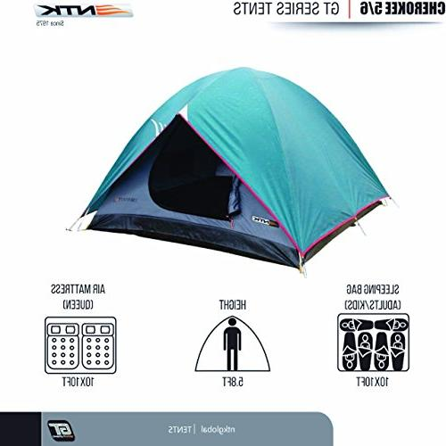 NTK GT 5 by 9.8 Dome Camping Tent 100% 2500mm, Assembly, Durable Full Coverage - Mosquito Mesh